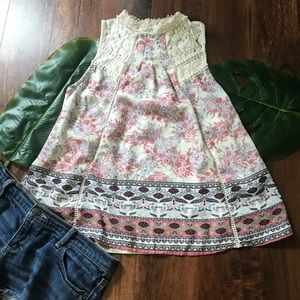 Taylor and Sage Lace High Neck Blouse